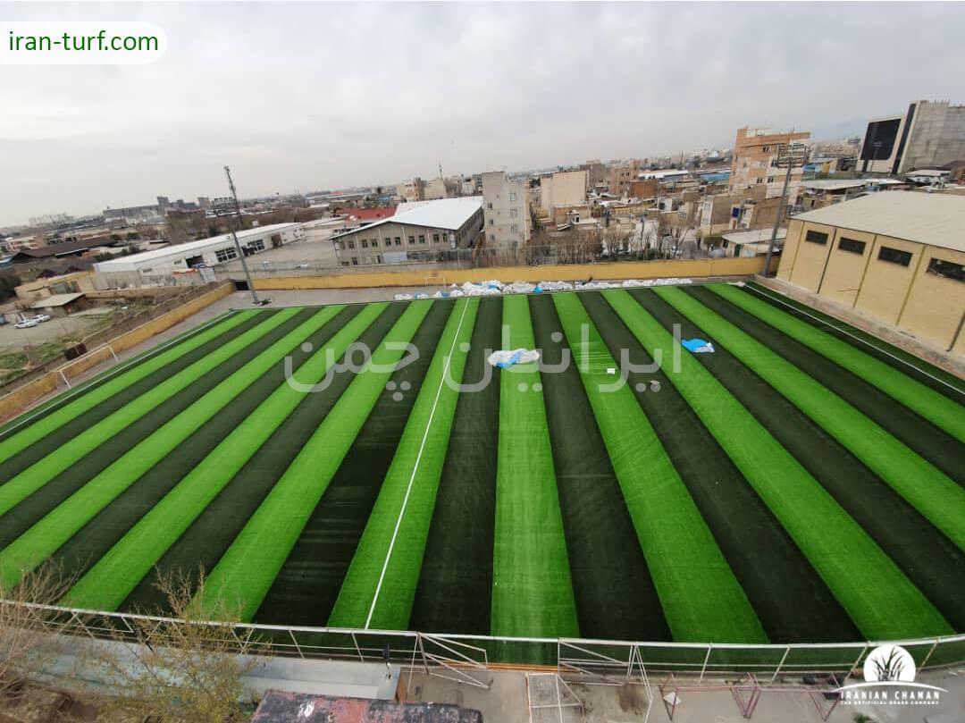 نصب چمن مصنوعی ورزشی برای ورزشگاه شهید معتمدی