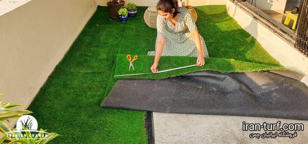 چمن مصنوعی برای بالکن